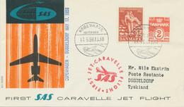 DENMARK 1959 First Flight SAS First Caravelle Jet Flight COPENHAGEN - DÜSSELDORF - Aéreo