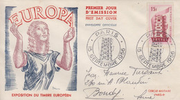 Enveloppe  FDC  1er  Jour   FRANCE   EUROPA   PARIS    1956 - 1950-1959