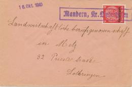 DEUTSCHE BESETZUNGSAUSGABEN 1939/45-LOTHRINGEN 1940 RA1 Mandern, Kr. Diedenhofen - Ocupación 1938 – 45