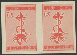 DOMINIKANISCHE REPUBLIK 1957 Zuschlagsmarke Krebsbekämpfung U/M IMPERFORATED - República Dominicana