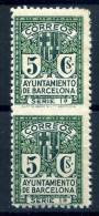 BARCELONA    Nº  9spv  ( Charnela- Hinged )-43 - Barcelona