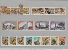 South West Africa SWA All Stamp Issues Years 1978,1980,1982,1983,1984,1985,1986 MNh - Africa (Varia)