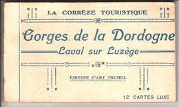 Gorges De La Dordogne. Cpa Sépia. - Carnet De 12 Cp Autour De Laval Sur Luzège... (quelques Scans) - Ohne Zuordnung