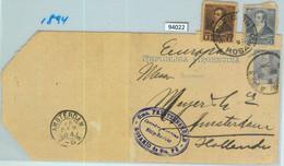 94022 - ARGENTINA - POSTAL HISTORY - STATIONERY WRAPPER + Franking To NETHERLANDS 1894 - Ganzsachen