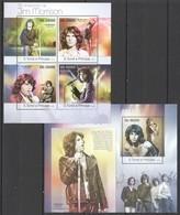 ST1811 2013 S. TOME E PRINCIPE 70TH ANNIVERSARY ARTIST JIM MORRISON KB+BL MNH - Muziek