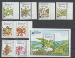 ANTIGUA-BARBUDA  MAIL 1990   **   MNH   YVERT  1257/60+1219/22+BLO 173  VALOR   25 €   FRORES - Antigua Y Barbuda (1981-...)