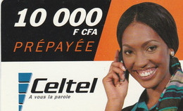 Gabon - Celtel - Woman 10 000 F CFA - Gabon