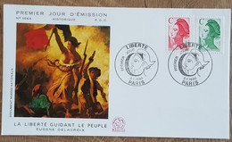 FDC 1990 - YT N°2615, 2616 - LIBERTE - PARIS - 1990-1999
