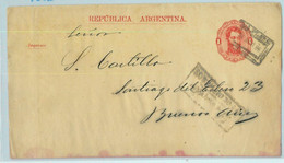 94026 - ARGENTINA - POSTAL HISTORY - STATIONERY  WRAPPER La Plata To BA 1886 - Ganzsachen