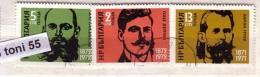 1972 Bulgarian Patriots 3v.- Used/oblit.(O)  Bulgaria / Bulgarie - Usados