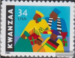 U.S. 3506 (complete Issue) Unmounted Mint / Never Hinged 2001 Kwanzaa-down - Nuevos