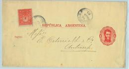 94027 - ARGENTINA - POSTAL HISTORY - STATIONERY WRAPPER + Franking To NETHERLAND  1885 - Ganzsachen