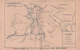 """1934 Cie De Navigation Mixte (Cie TOUACHE) MENU à Bord Du S/S """"EL-KANTARA"""" - Croisières Aux ILES BALEARES - Documentos Históricos"""