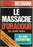 Historama N°276 Novembre 1974 Massacre Oradour - Histoire