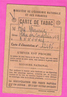 Carte De Rationnement Tabac Par Décades Débit N°10 De M.Boget à Annonay Ardèche 1942 - Historische Documenten