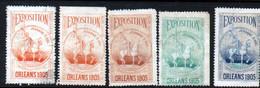5 Vignettes Exposition Orleans 1905 - Autres