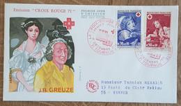 FDC 1971 - YT N°1700, 1701 - CROIX ROUGE - TOURNUS - 1970-1979