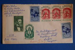 L9 USA  BELLE LETTRE 1960 DETROIT POUR LAGOO NIGERIA+ AFFRANCH. PLAISANT - Briefe U. Dokumente