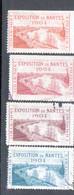 4 Vignettes Exposition Nantes 1904 - Autres