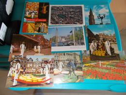 PAYS BAS HOLLANDE HOLLAND  NEDERLAND  LOT DE 65 CPSM  AMSTERDAM  FLEURS  MARCHE  ALKMAAR  MARCHE AUX FROMAGES PENICHES - 5 - 99 Postcards