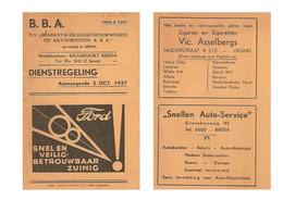 N.B.A. Noord Brabant Busdienstregeling 1937 KE5036 - Europe