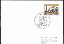 """AUSTRIA - SCOUTISMO -  ANNULLO SPECIALE """" BRIEFMARKENSCHAU WIENER NEUSTADT - 25.5.1985"""" - 1981-90 Cartas"""