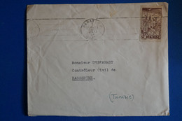 L9 MAROC BELLE LETTRE 1946 RABAT  POUR KASSERINE TUNISIE + AFFRANCH. INTERESSANT - Briefe U. Dokumente