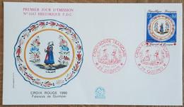 FDC 1990 - YT N°2646 - CROIX ROUGE - QUIMPER - 1990-1999