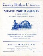 DOC.NOUVEAU MOTEUR CROSSLEY A HUILE LOURDE.DEMARRANT A FROID.CROSSLEY BROTHERS Ltd.MANCHESTER. - Sin Clasificación
