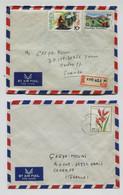 RWANDA 2 Lettres Avec Affranchissement Dont 1 Recommandé KIGALI N - Autres
