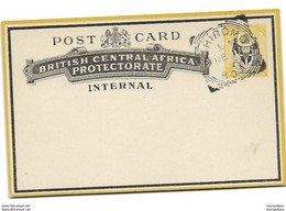 62 - 52 - Entier Postal British Central Africa Protectorate Internal - Cachet Chiromo 1900 - Sonstige
