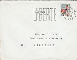 FLAMME SOBRIETE LIBERTE LILLE BOURSE 1966 - Annullamenti Meccanici (pubblicitari)