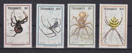 Südafrika RSA Transkei 1987 Spinnen Mi.-Nr. 206-209  Kpl. **  - Transkei