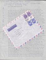 Israel Par Avion JERUSALEM 1965 Cover & Original Letter HORW B. Luzern Suisse Star Sign Stamps Scale & Twins - Cartas
