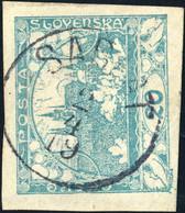 """TCHECOSLOVAQUIE / CZECHOSLOVAKIA 1919 -  """" SABLAT """" (ZÁBLATÍ NA ŠUMAVÉ V2783-1) On Mi.4 - Usados"""