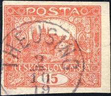 "TCHECOSLOVAQUIE / CZECHOSLOVAKIA 1919 -  "" THEUSING "" (TOUŽIM - V-2491-1) On Mi.26Ua - Usados"