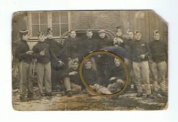 Photo Carte - Armée Belge - Camp De BEVERLOO 191...? - 2e Lanciers 2e Escadron, Envoyé à Liège (Y127) - Personen