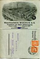 "ALLEMAGNE.FRANKFURT.IMPRIME PUB.MASCHINENFABRIK MOENUS A.G.POUR LA MESUREUSE DE PRECISION "" ACCURATA "" - Sin Clasificación"