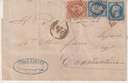 FRANCE / ALGERIE : AFFRANCHISSEMENT A 40 C . TYPE EMPIRE . ALGER . POUR CONSTANTINE . 1861 . PC 3710 . - 1849-1876: Periodo Classico