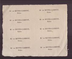 """Papier Filigrané """" Mr De Reynes-Camboyé """" Prêtre - Sin Clasificación"""