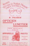 0000 - BUVARD - Opticien-Lunetier-Appareils Photo- F. FLIZET - SAINT MAURICE - SEINE - Cinéma & Theatre
