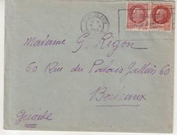 """FRANCE: AFFRANCHISSEMENT A 3 F . TYPE PETAIN . OBL MECANIQUE . """" SECOURS NATIONAL CONTRE LA MISERE """" . 1944 . - Lettres & Documents"""