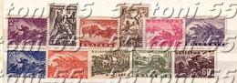 1946 WW II- MILITARY  11 V-MNH   BULGARIA / Bulgarie - Unused Stamps
