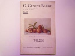 GP 2021 - 68  CATALOGUE 1928  O. GENEST-BARGE  Lyon   Graines Potagères  -  Fleurs  -  Arbres    XXX - Non Classificati