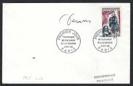 FRANCE 1965: FDC Avec Signature De L'artiste (Decaris) - 1960-1969