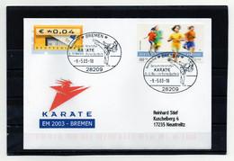 BRD, 2003, Brief Mit Michel 2165, ATM 5 (echt Gelaufen), Sonderstempel Bremen, Karate-EM - Cartas