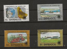 Barbados, 1983, SG 722 - 725, Complete Set, Used - Barbades (1966-...)