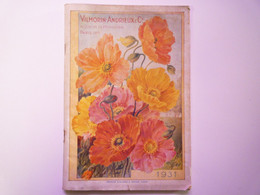 GP 2021 - 69  CATALOGUE 1931  VILMORIN-ANDRIEUX  Potager  -  Fleurs  -  Arbustes   XXX - Sin Clasificación