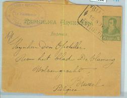 94032 - ARGENTINA - POSTAL HISTORY - STATIONERY WRAPPER Villa Urquiza To BELGIUM - Ganzsachen