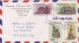 NICARAGUA :  Divers PA  Antiquités Indigènes Sur Lettre Pour La France - Nicaragua